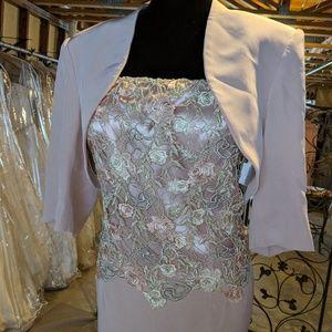 Montage by Mon Cheri MOB blush gown w/jacket